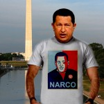 Hugo Chavez NARCO (White Cotton T-Shirt)
