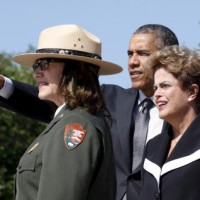 Brazil's President Rousseff in Washington amidst trouble back home