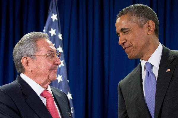 castro obama at UN
