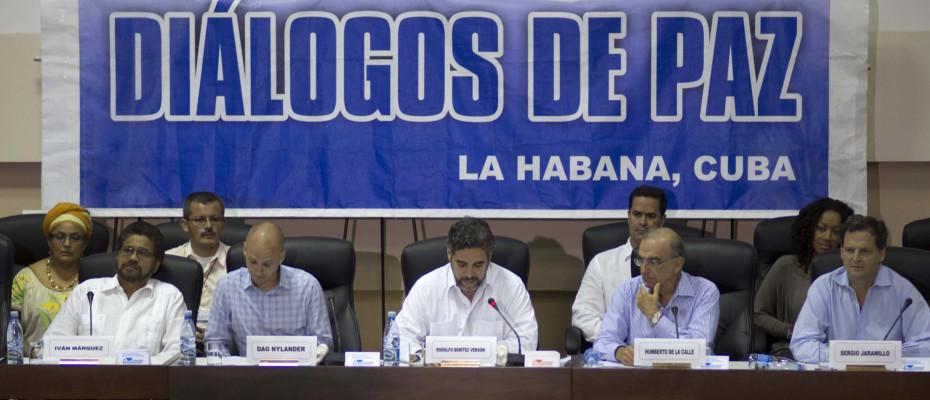 Ivan Marquez,  Humberto de la Calle, Rodolfo Benitez Verson, Dag Nylander, Sergio Jaramillo, Gen. Jorge Mora