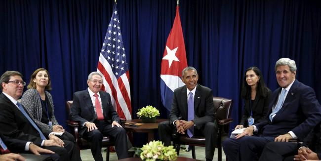 Castro obama meeting
